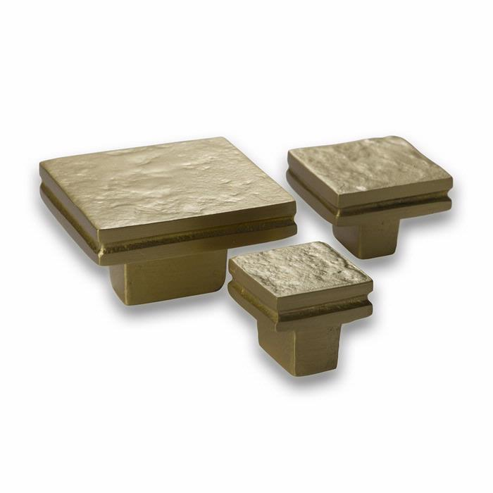 New Look Square Cabinet Knobs Satin Gold